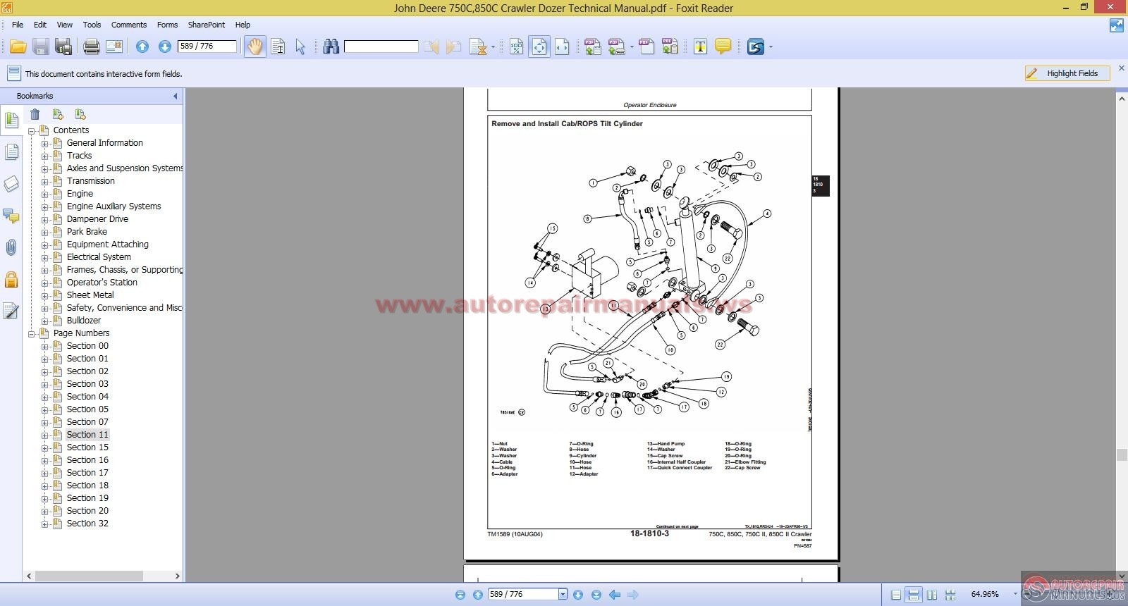 John Deere 750c Dozer Engine Diagram - Diagrams Catalogue