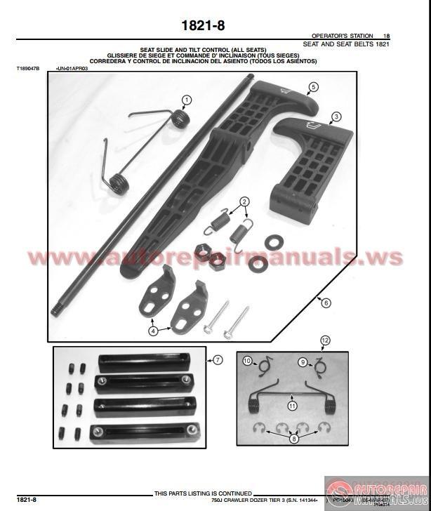 John Deere 750j Crawler Dozer Tier 3 Parts Catalog