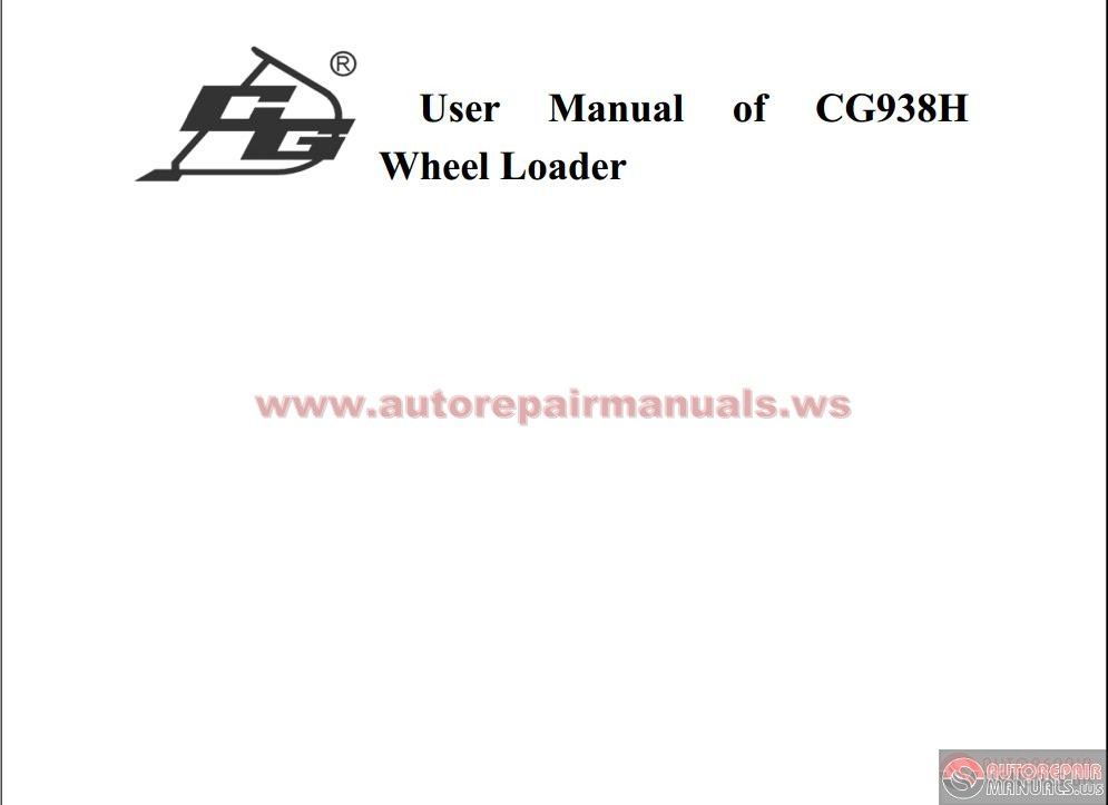 Cheng Gong Cg938h Service Manual Auto Repair Manual