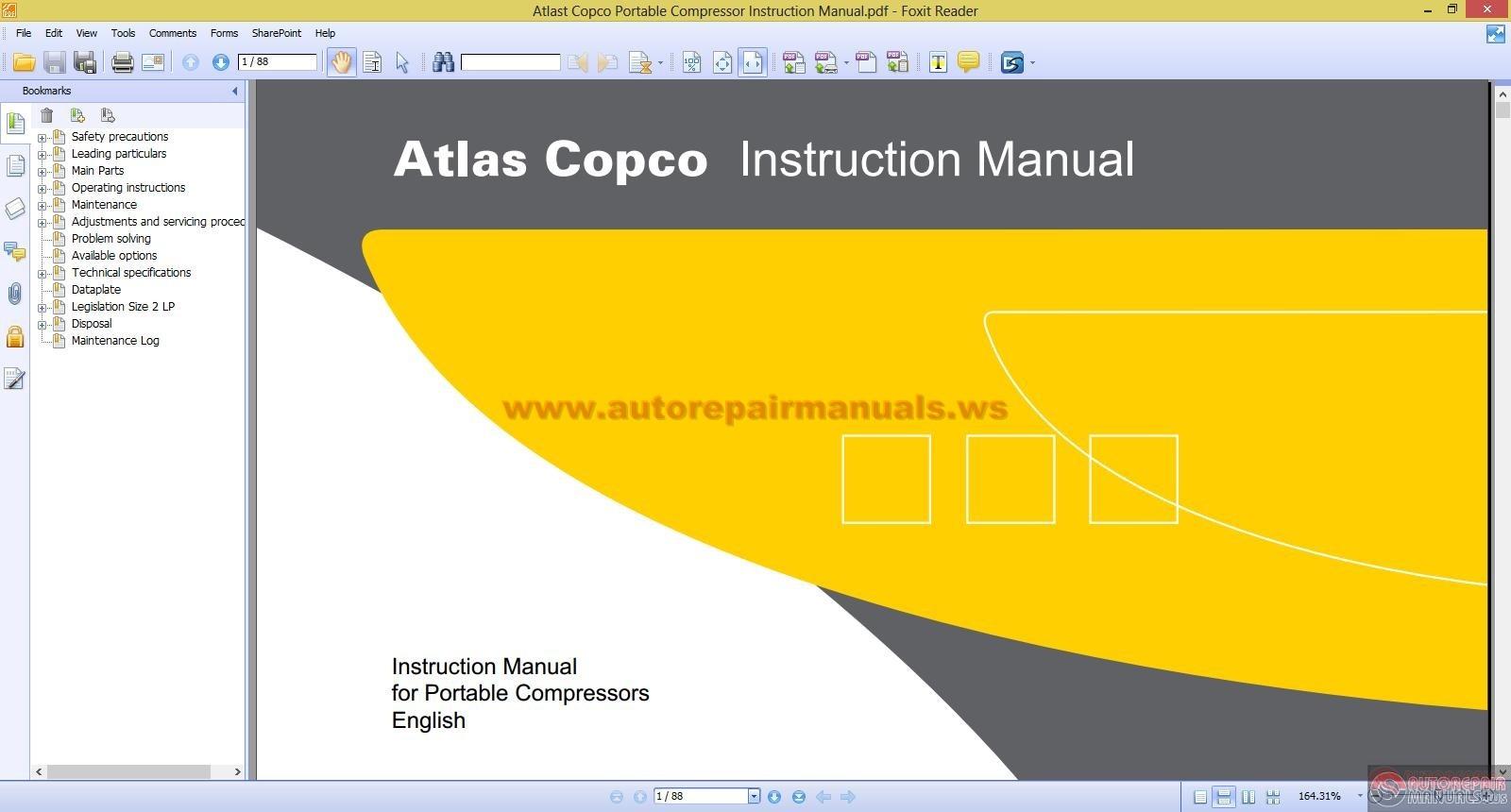Atlas Copco Compressors Owners Manual