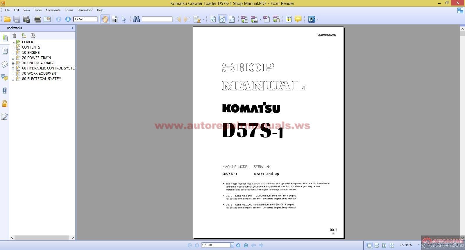 komatsu crawler loader shop manual auto repair manual. Black Bedroom Furniture Sets. Home Design Ideas
