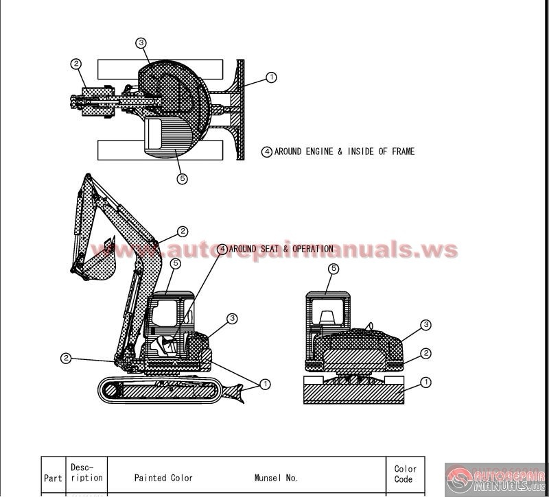yanmar crawler backhoe model vio70 for europe parts