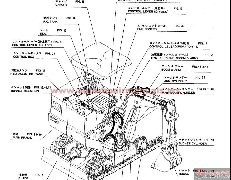 yanmar crawler backhoe model yb201  u  parts catalog