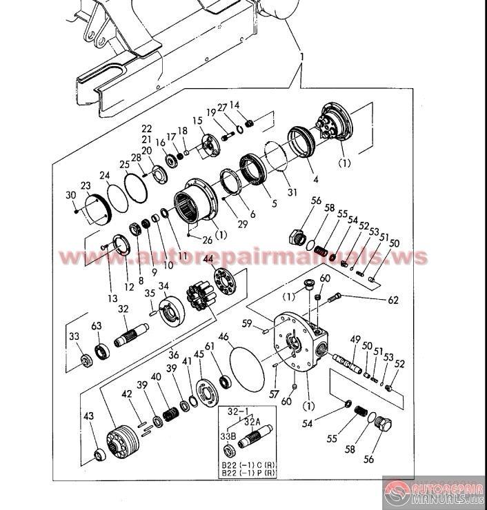 yanmar crawler backhoe model yb221 yb221uz b22 b22 1parts. Black Bedroom Furniture Sets. Home Design Ideas