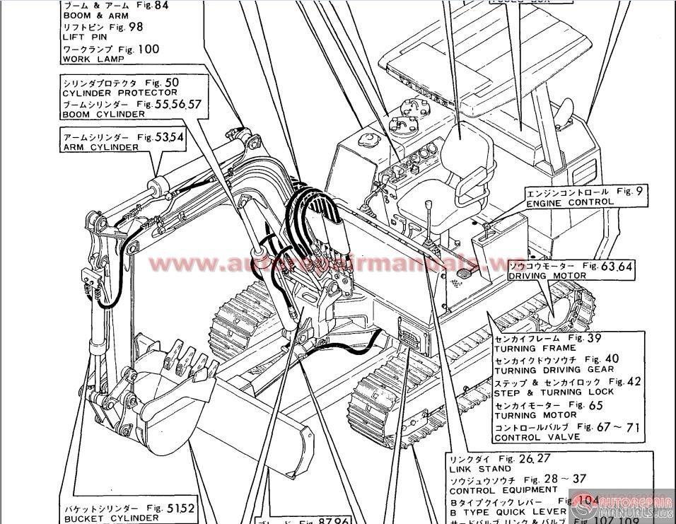 yanmar crawler backhoe model yb301