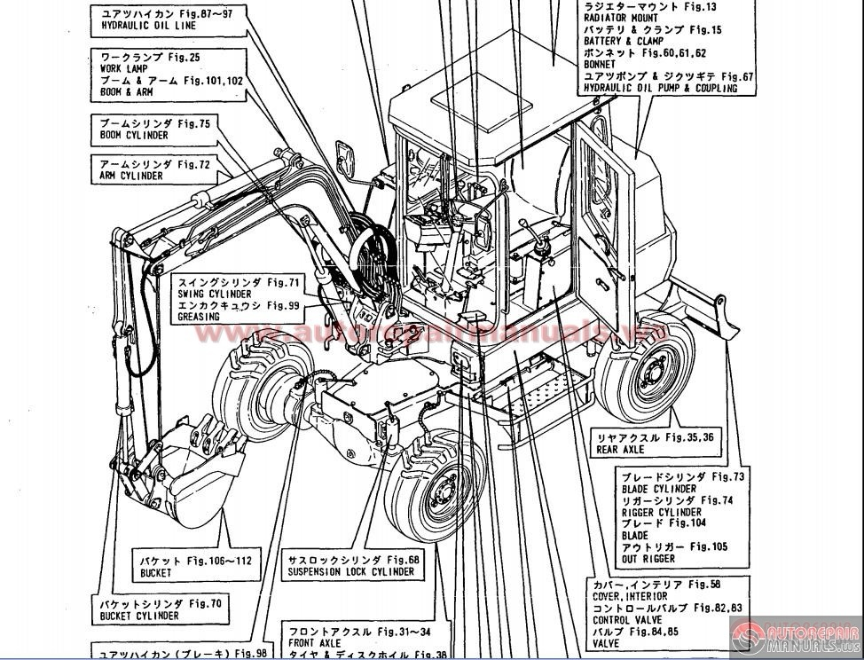 wiring diagrams for excavator