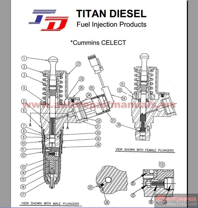Cummins Celect Injector Parts List Auto Repair Manual