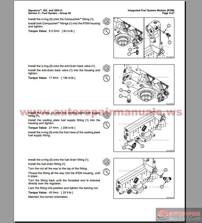 2015 Cummins Isx Manual