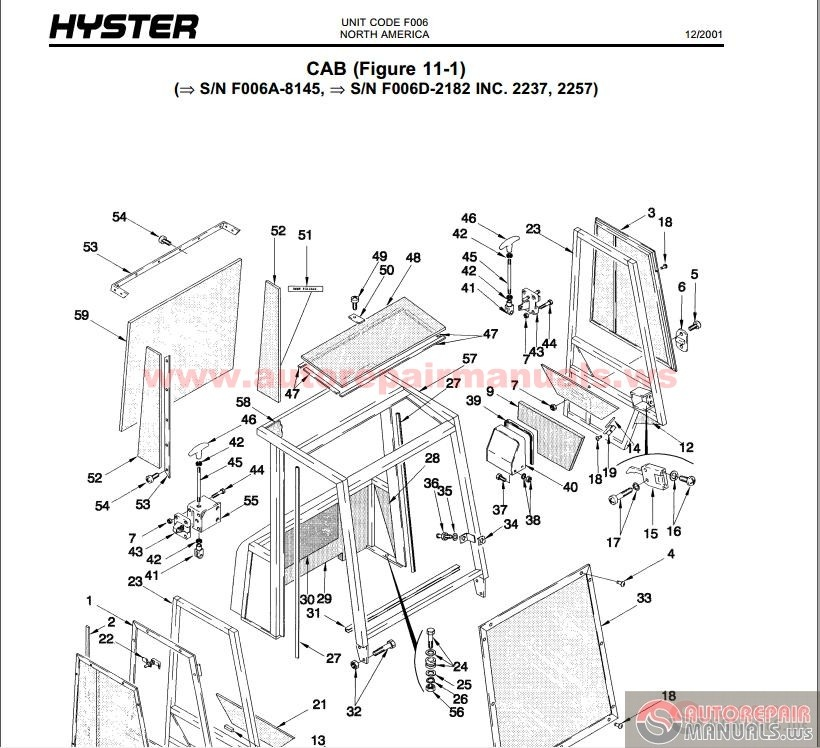 Hyster Forklift Parts And Service Manual Cd2 Auto Repair