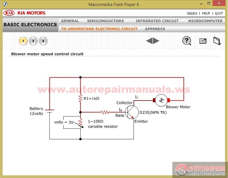 cd kia service training  basic electronics