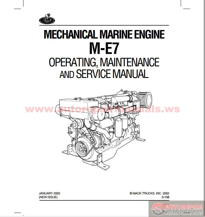 mack marin engine m e7 operating maintenance service manuals auto repair manual forum