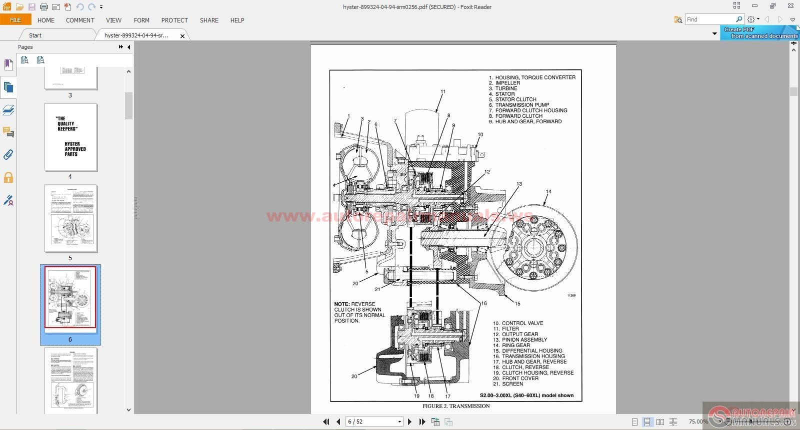 Hyster Model S50f Forklift Manual