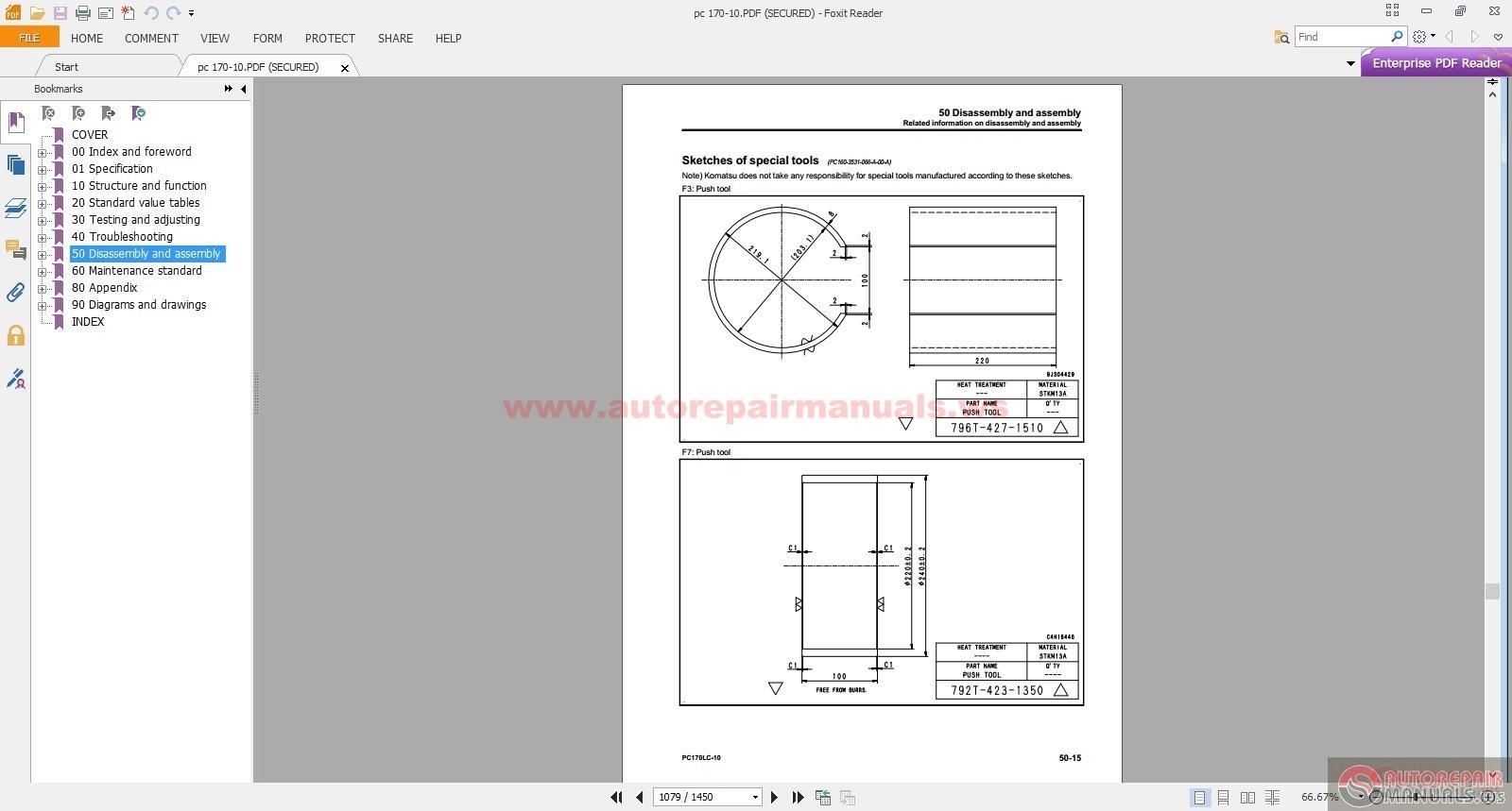 komatsu hydraulic excavator pc170lc 10 shop manual auto. Black Bedroom Furniture Sets. Home Design Ideas
