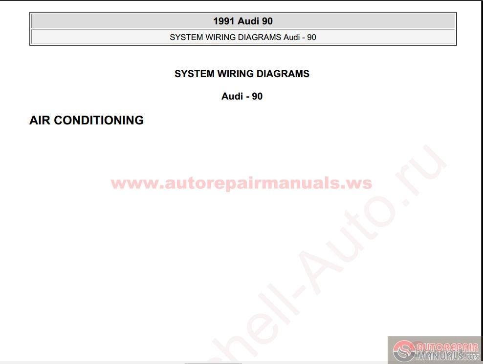 audi 90 radio wiring diagram audi 90 1991 wiring diagram audi 90 1991 system wiring diagrams | auto repair manual ...
