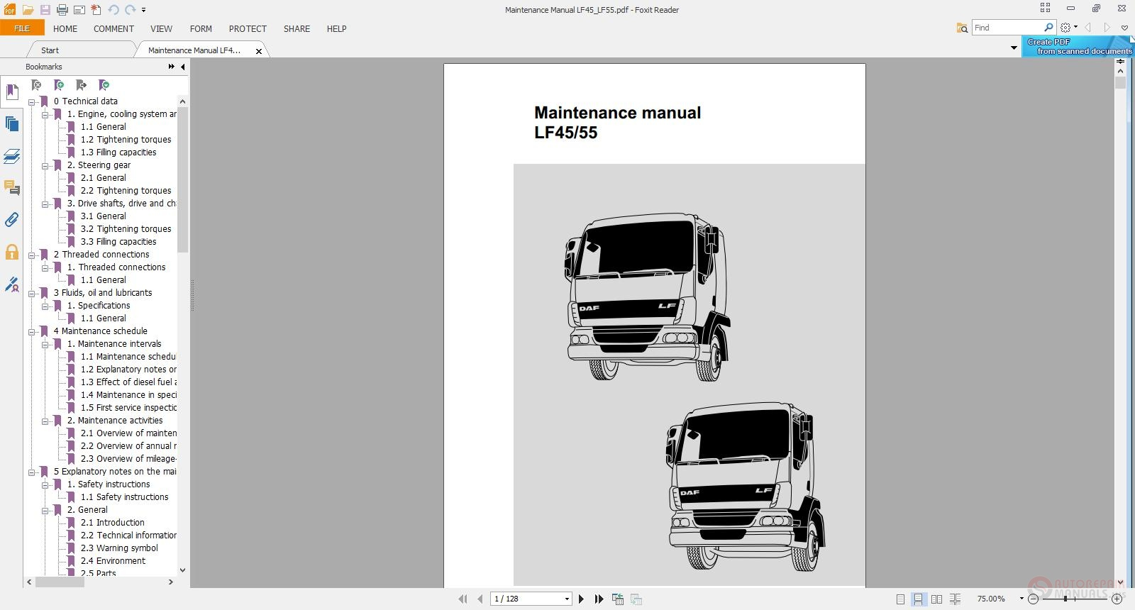Daf Lf45 Lf55 Maintenance Manual Auto Repair Manual Forum Heavy Equipment Forums Download Repair Workshop Manual