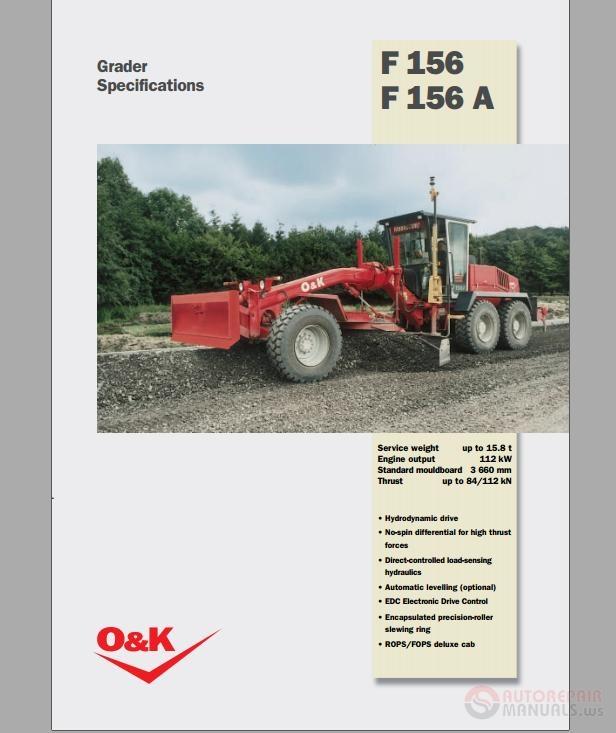 o u0026k f156 f156a grader specification