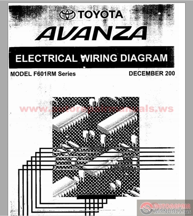 Wiring Diagram Tape Toyota Avanza : Toyota avanza f rm series electrical wiring diagram
