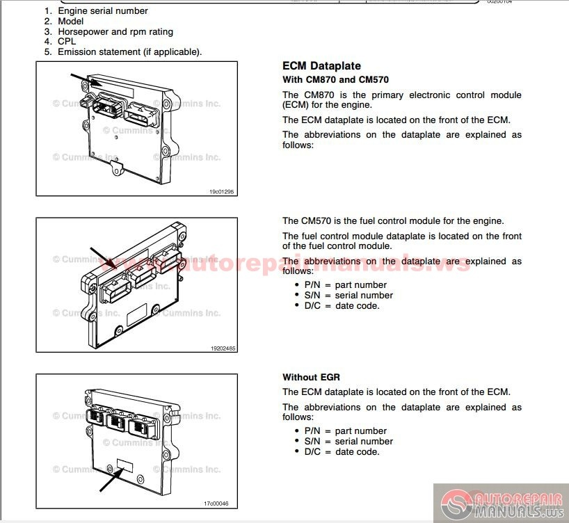 Cummins Troubleshooting And Repair Manual Ism  U0026 Qsm 11