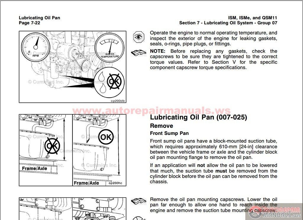 Cummins Troubleshooting And Repair Manual Ism  U0026 Qsm 11 Volume 2