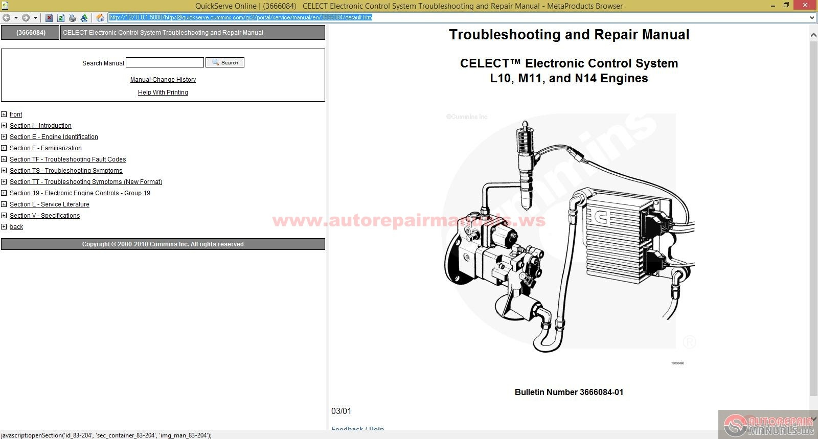 cummins celect electronic system troubleshooting and repair manual auto repair manual