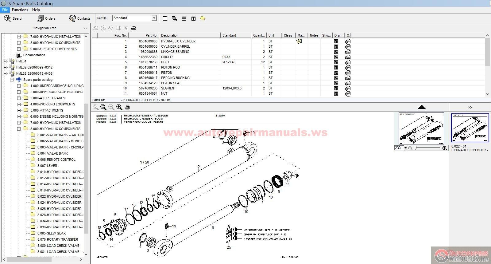 terex schaeff hml 22 23 31 32 42 parts catalog auto. Black Bedroom Furniture Sets. Home Design Ideas