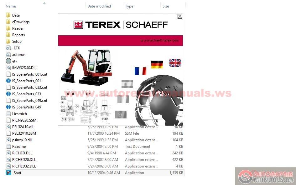 terex schaeff mini excavator hr 1 5  1 6  2 0  3 7 parts