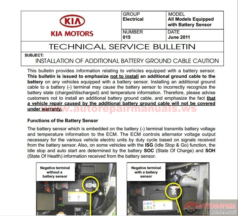 kia rio bc 2001 2005 technical service bulletin auto. Black Bedroom Furniture Sets. Home Design Ideas