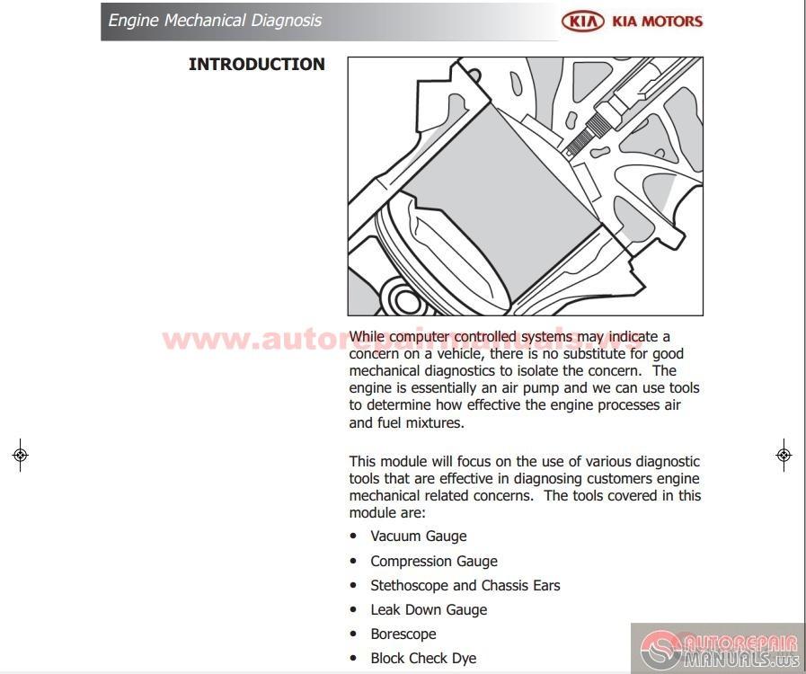kia course guide engine mechanical diagnosis auto repair manual forum heavy equipment forums Kia Picanto 2006 Kia Picanto 2010
