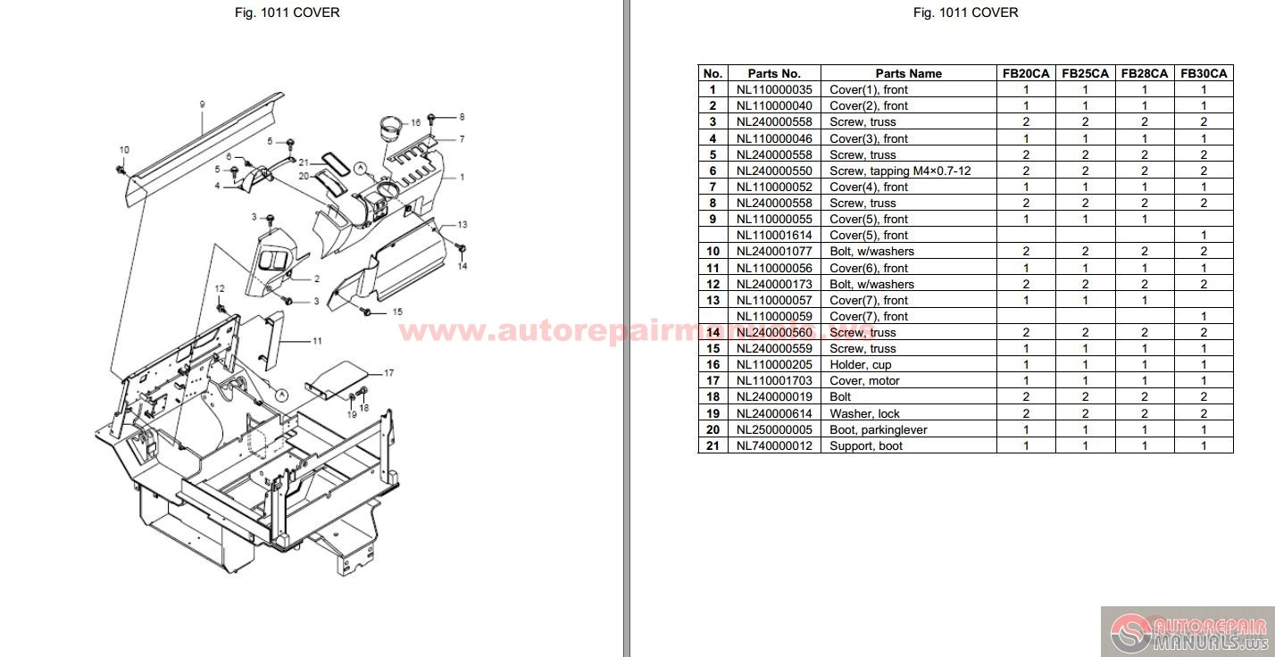 mitsubishi forklift trucks parts list wiring diagrams