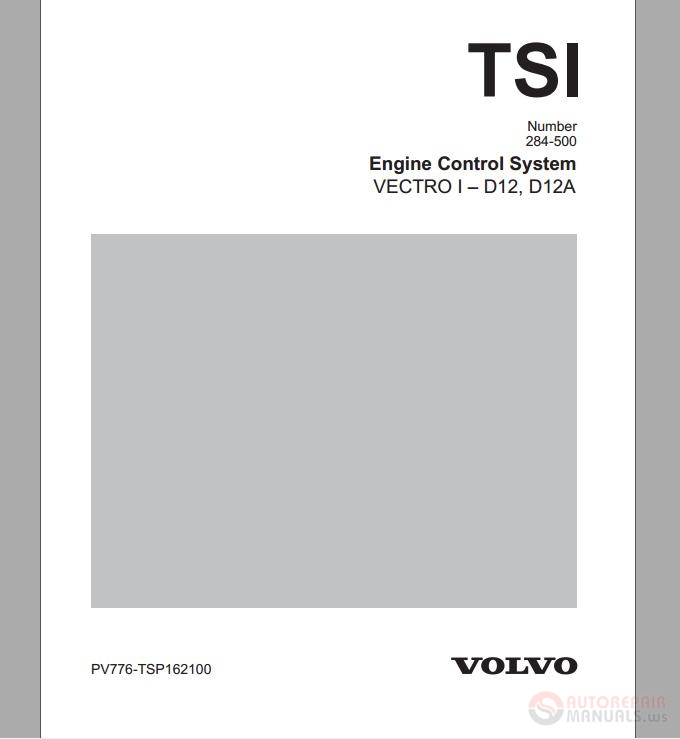 Volvo    D12 D12A    Engine    Control System   Auto Repair Manual