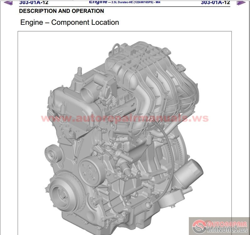 Ford Bt50 Pro 2012 Service And Wiring Manual
