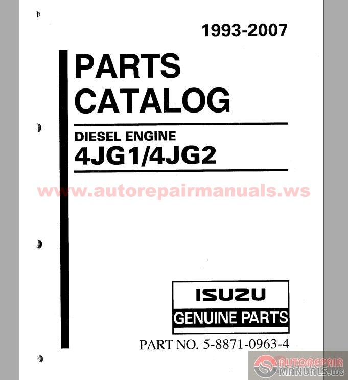 isuzu engine parts manual daily instruction manual guides u2022 rh testingwordpress co Isuzu 4LE1 Diesel Exploded-View Isuzu C240 Engine Specifications