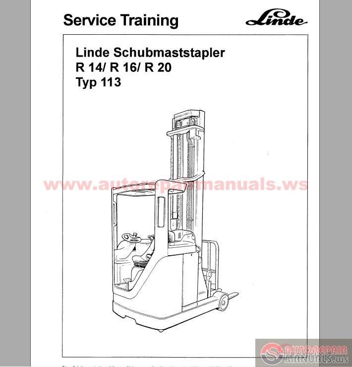 linde r14 r16 r20 service training typ 113 service training