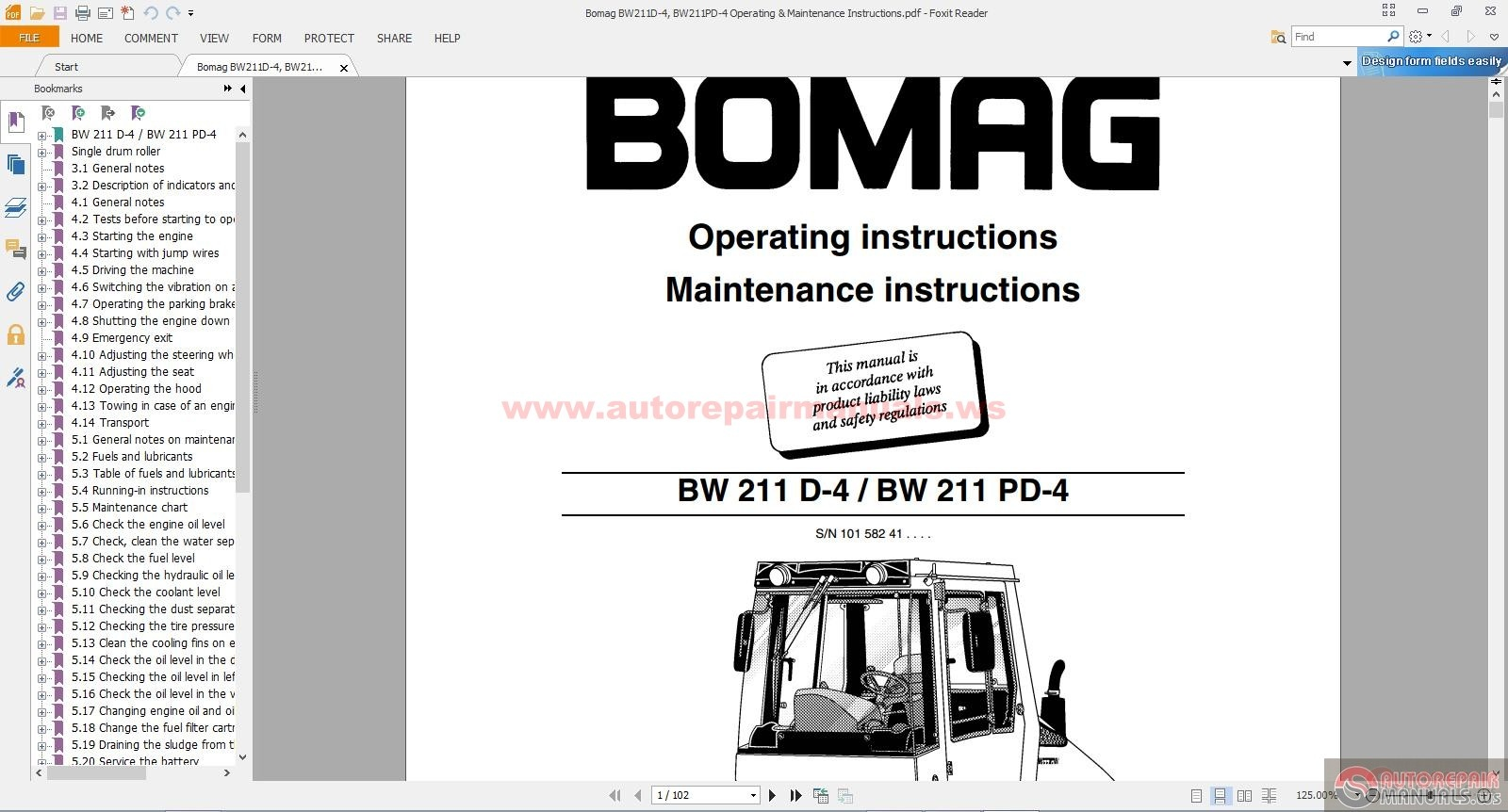 Bomag_BW211D 4_BW211PD 4_Operating_Maintenance_Instructions bomag bw211d 4, bw211pd 4 operating & maintenance instructions bomag bw-90 wiring diagram at bayanpartner.co