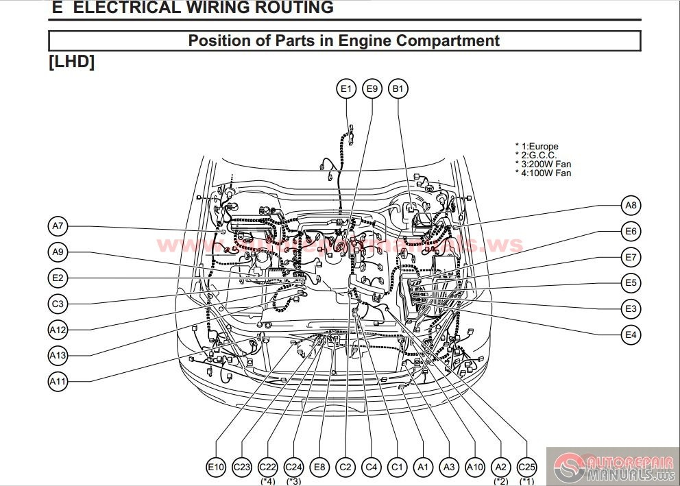 lexus 2008 rx 350 parts diagram