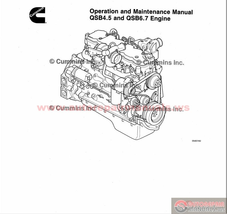 Cummins Qsb4 5 Amp Qsb6 7 Engine Operation Amp Maintenance