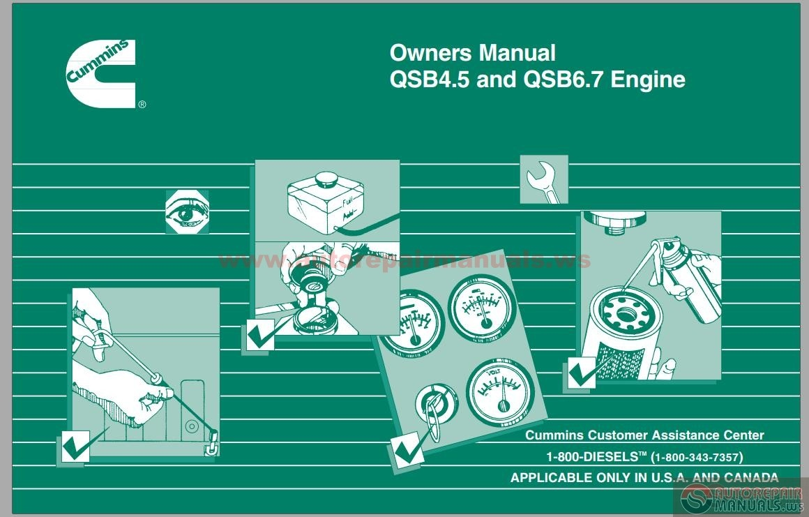Wiring Diagram Qsm11 House Symbols Cummins Qsb4 5 Qsb6 7 Engine Owners Manual Auto Repair Forum Heavy Equipment Forums Marine