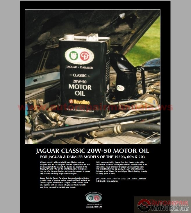 Jaguar XJ6 Parts and Service Manual
