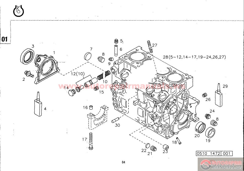 Deutz 1011 engine parts diagram
