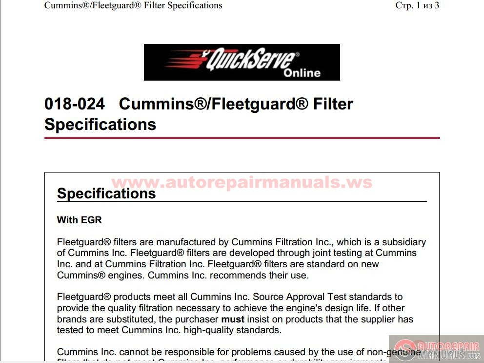 mins_-_Fleetguard_Filter_Specifications_018-024 Qsk Wiring Diagram on