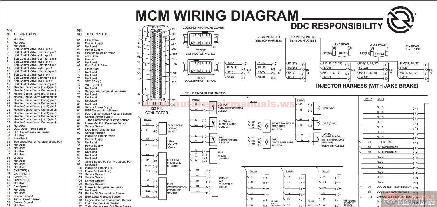 Detroit_Diesel_ _DDEC_VI_SERIES_60_MCM_EGR_Engine_Harness_Schematic detroit ddec 2 ecm wiring diagram detroit 60 series wiring DDEC ECM III Wiring at suagrazia.org