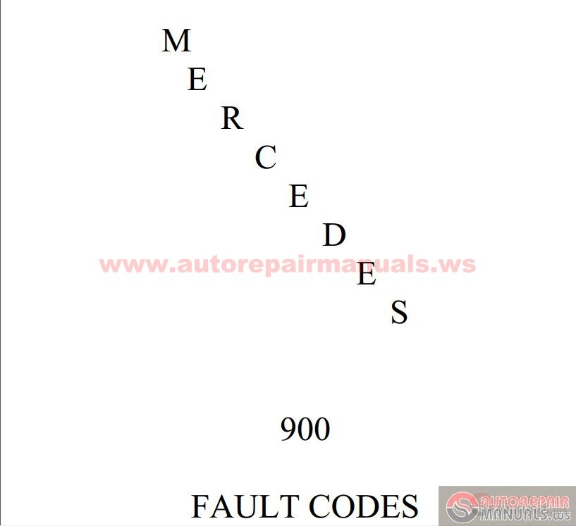 Mercedes br900 fault codes auto repair manual forum for Mercedes benz diagnostic codes