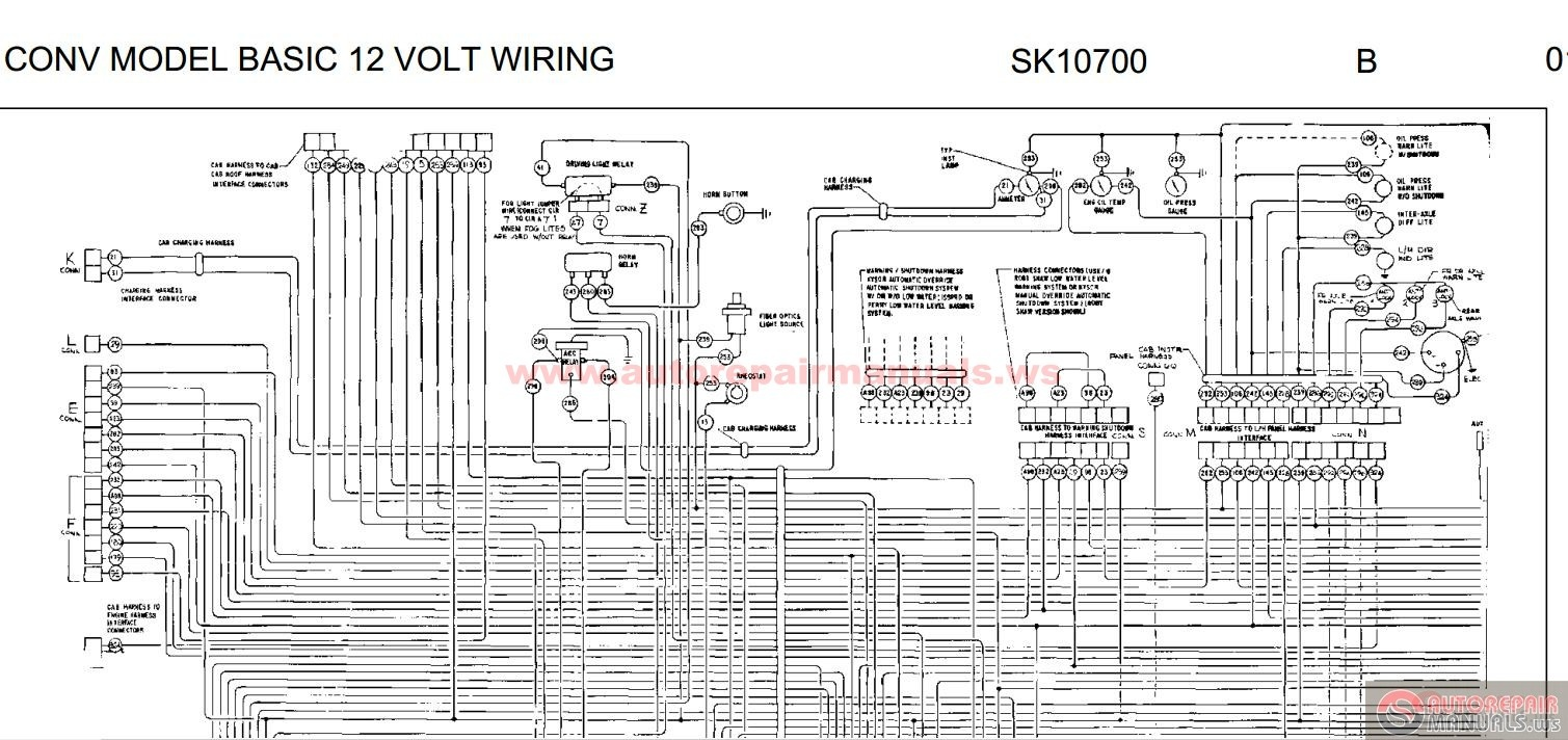 peterbilt conv model basic 12 volt wiring sk10700