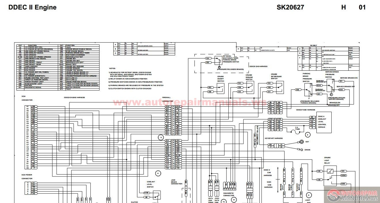 Peterbilt_ _DDEC_II_Engine_ _SK20627 peterbilt ddec ii engine sk20627 auto repair manual forum ddec ii wiring diagram at creativeand.co