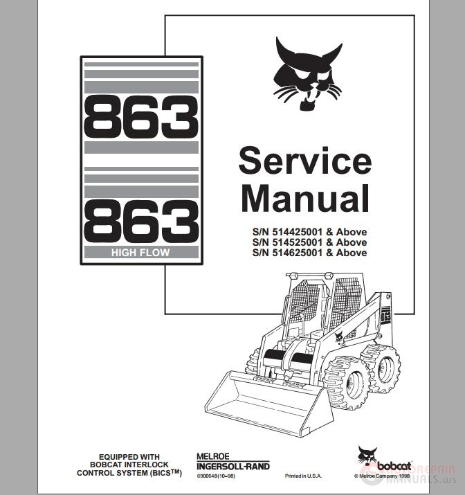 Bobcat_Skid_Steer_Loader_863_Service_Manual bobcat skid steer loader 863 service manual auto repair manual wiring diagram for bobcat 863 at aneh.co