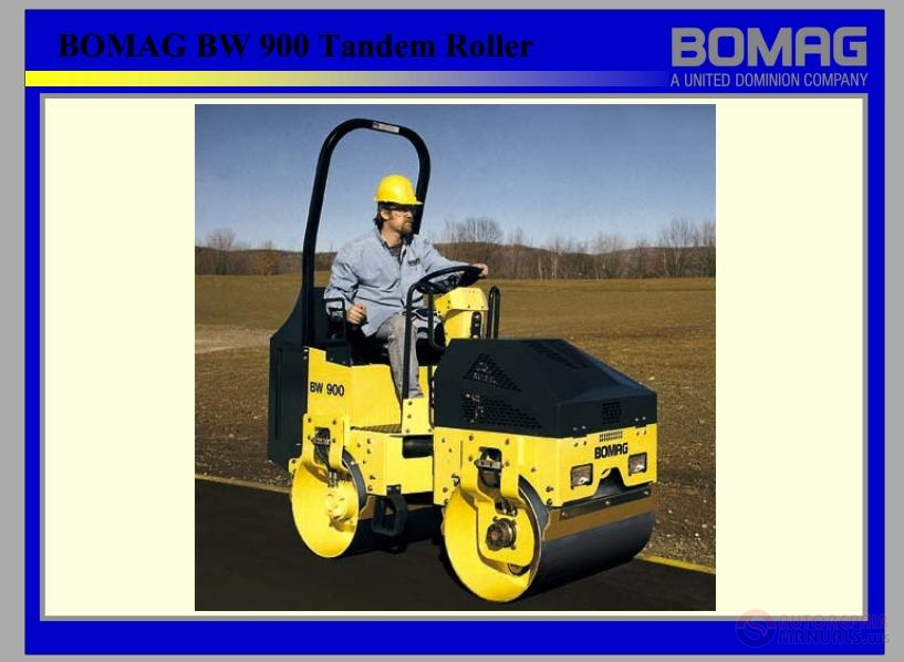 bomag bw 900 tandem roller technical manual auto repair manual rh autorepairmanuals ws bomag roller parts manual bomag single drum roller manual