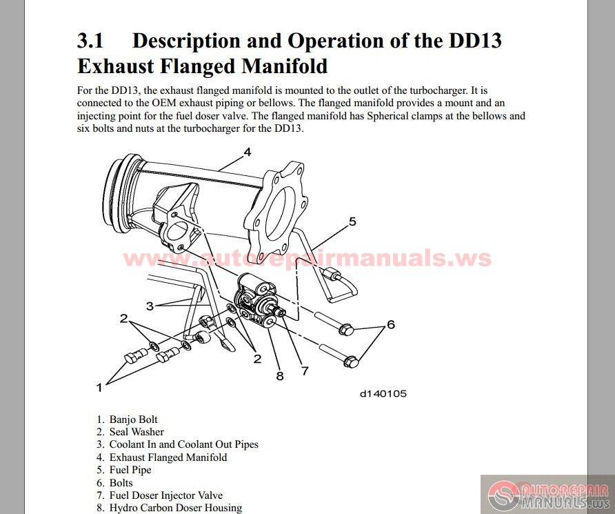 Detroit Dd13  Dd15  Dd16 Exhaust  Egr  Aftertreatment Service Manual