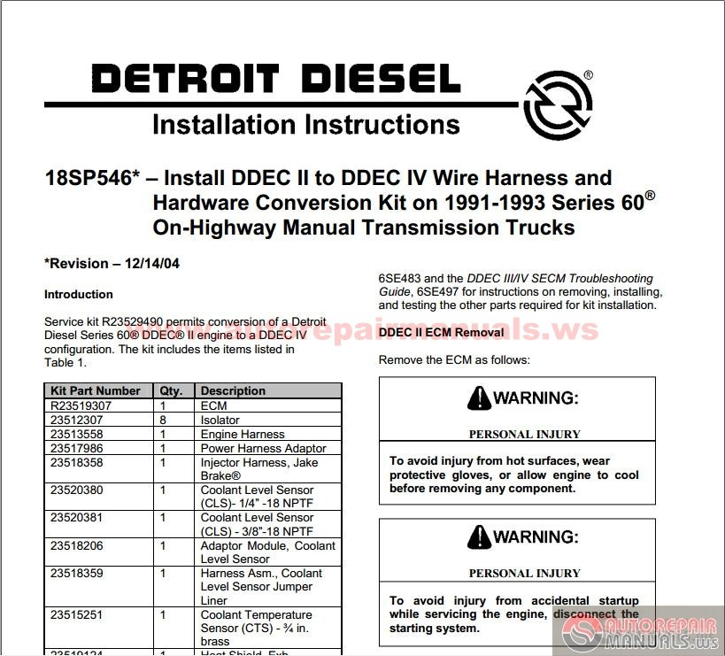 Detroit_Diesel_ _DDEC_II_to_III IV_Conversion detroit diesel ddec ii to iii iv conversion auto repair manual ddec iv wiring harness at couponss.co