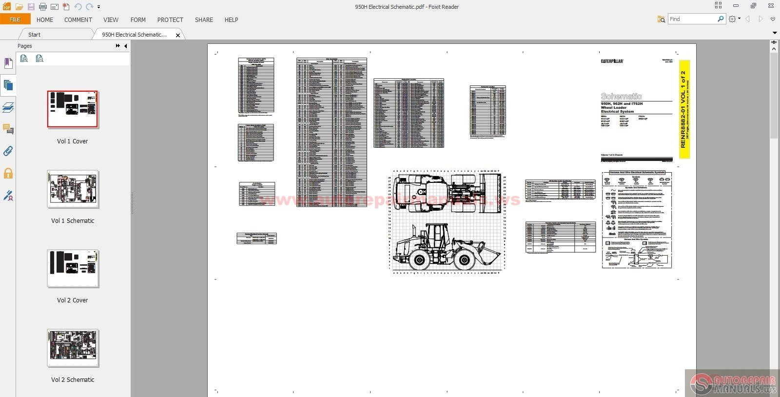 Cat Wheel Loader 950h Electric And Hydraulic Schematics