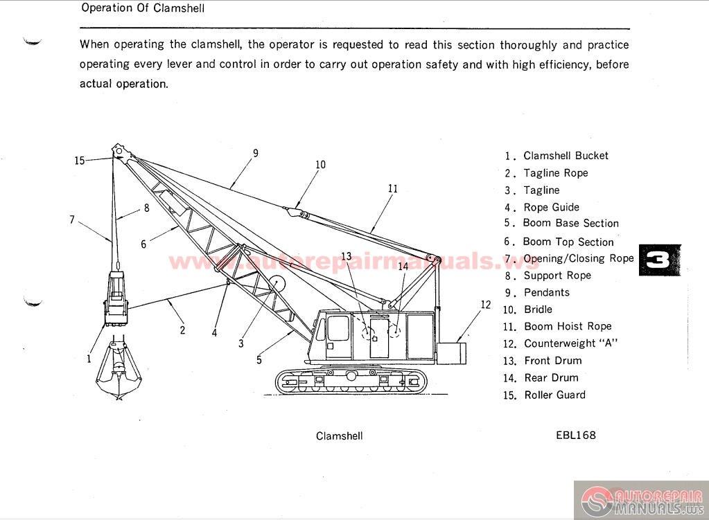 Spare Parts Link Belt Crane : Linkbelt ls c parts operation maintenance and load